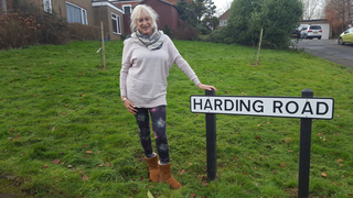 Ruth Juett in Harding Road