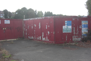 The old hoardings at the Alcan site were an eyesore